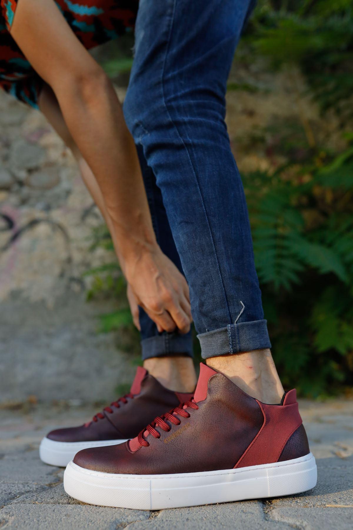 Chekich CH004 BT Erkek Ayakkabı BORDO