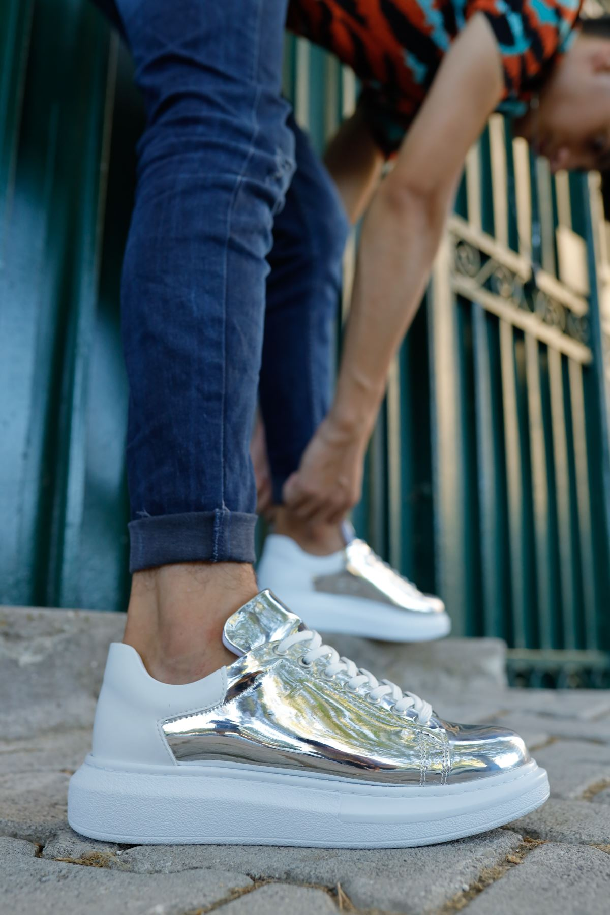 Chekich CH259 BT Erkek Ayakkabı GUMUS/BEYAZ