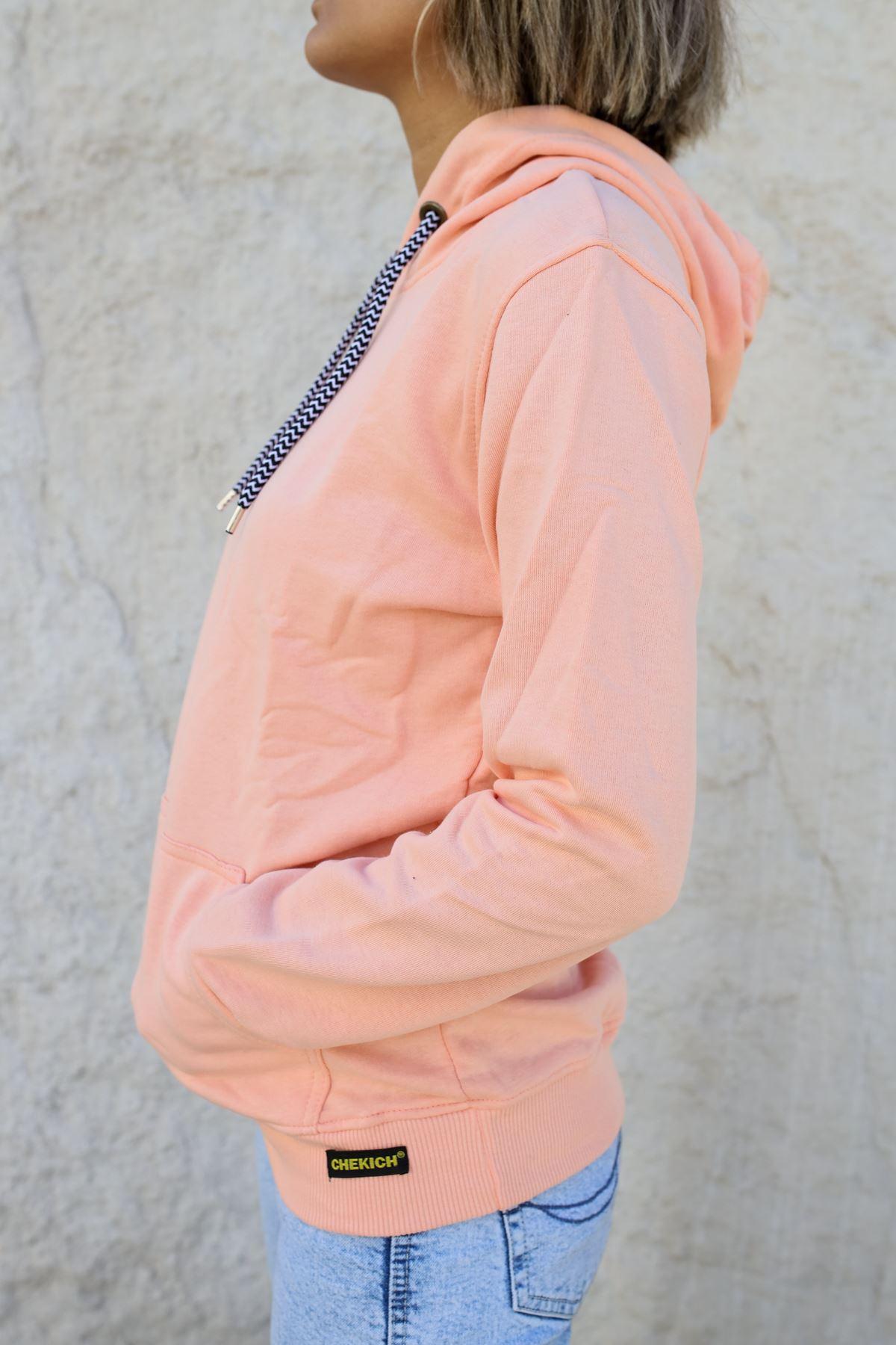 Kapüşonlu Kadın Sweatshirt PEMBE