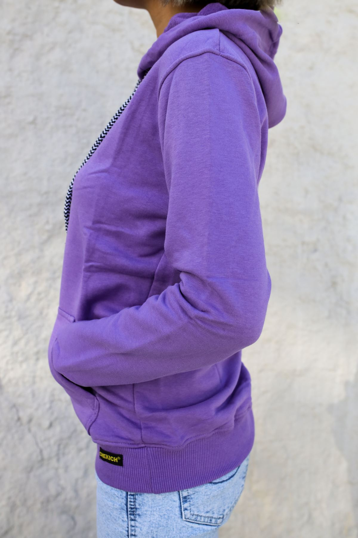 Kapüşonlu Kadın Sweatshirt MOR