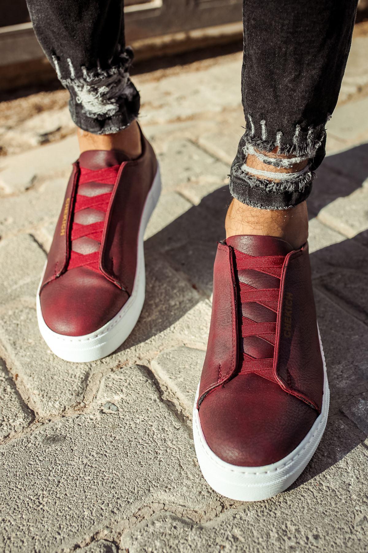 Chekich CH013 BT Erkek Ayakkabı BORDO