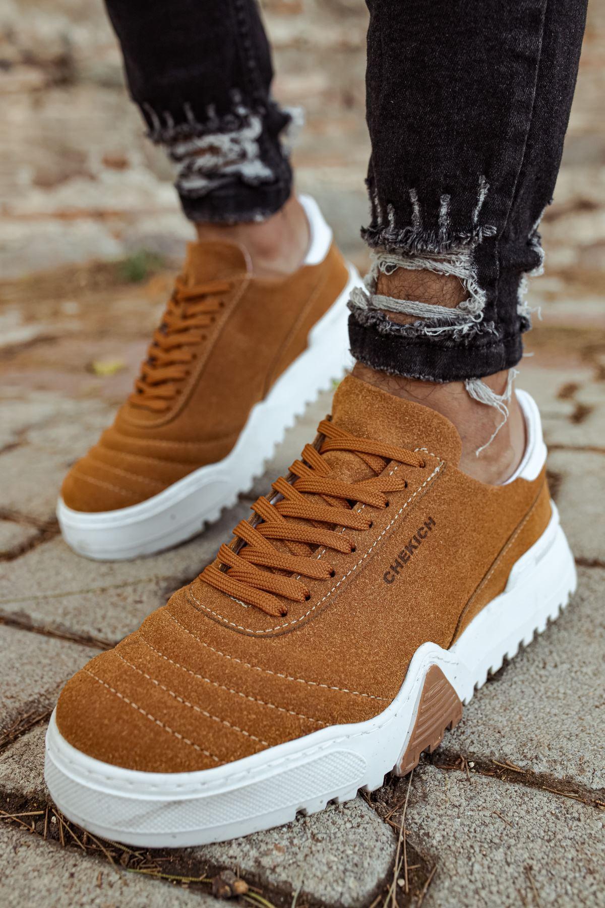 Chekich CH037SBT Erkek Ayakkabı TABA/BEYAZ
