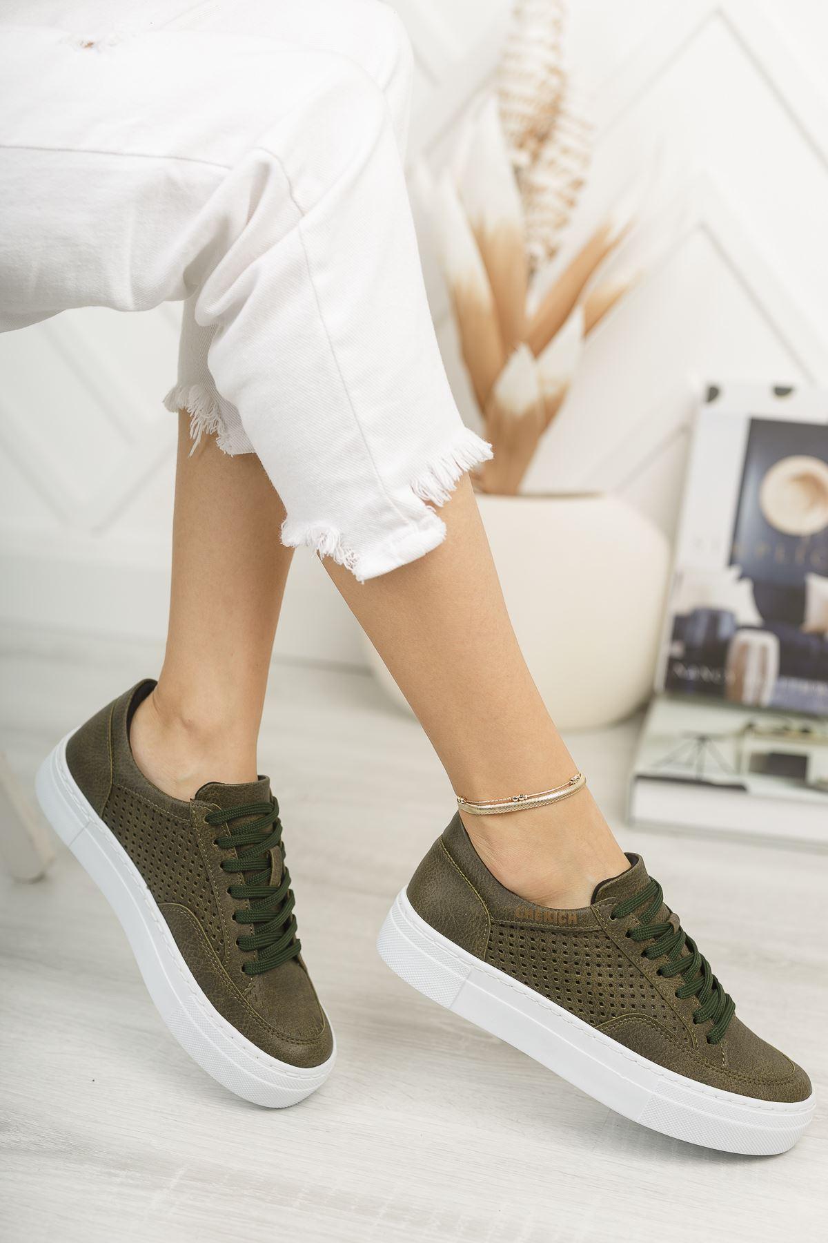 Chekich CH015 BT Kadın Ayakkabı HAKİ
