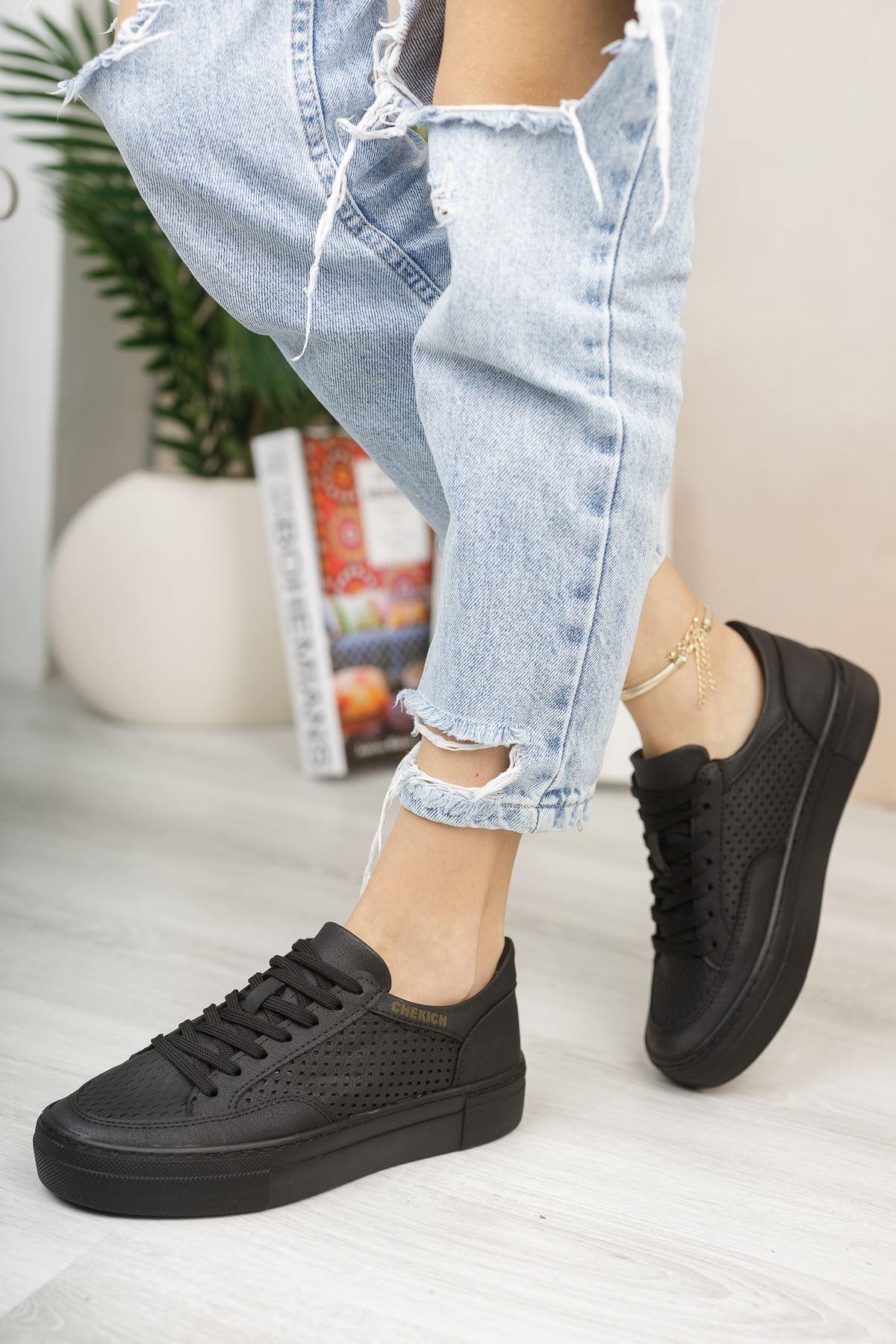 Chekich CH015 ST Kadın Ayakkabı SIYAH