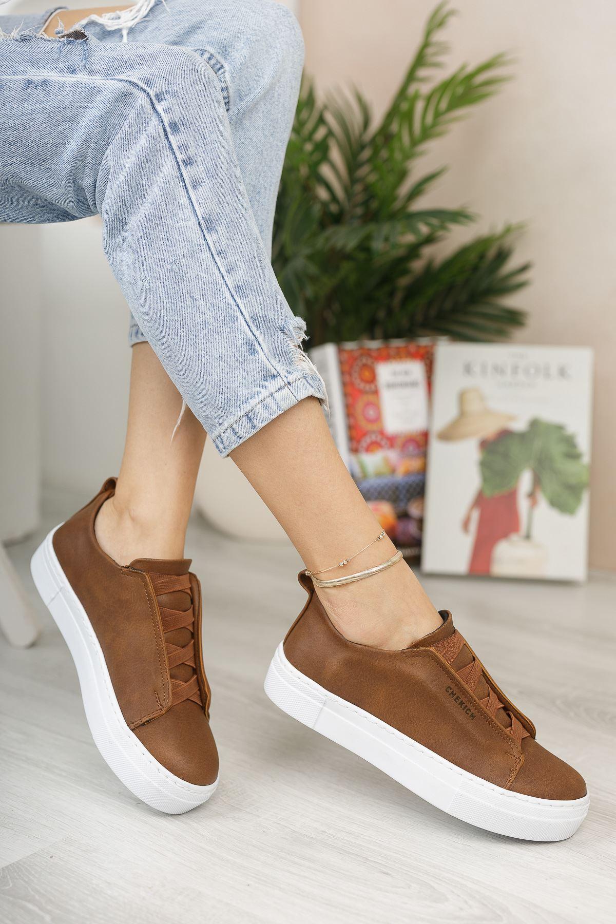 Chekich CH013 BT Kadın Ayakkabı TABA