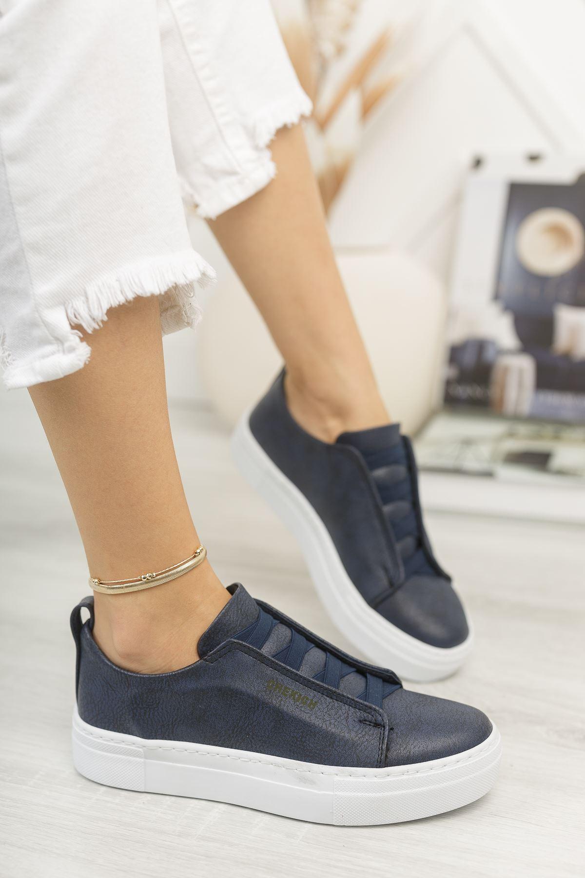 Chekich CH013 BT Kadın Ayakkabı LACIVERT