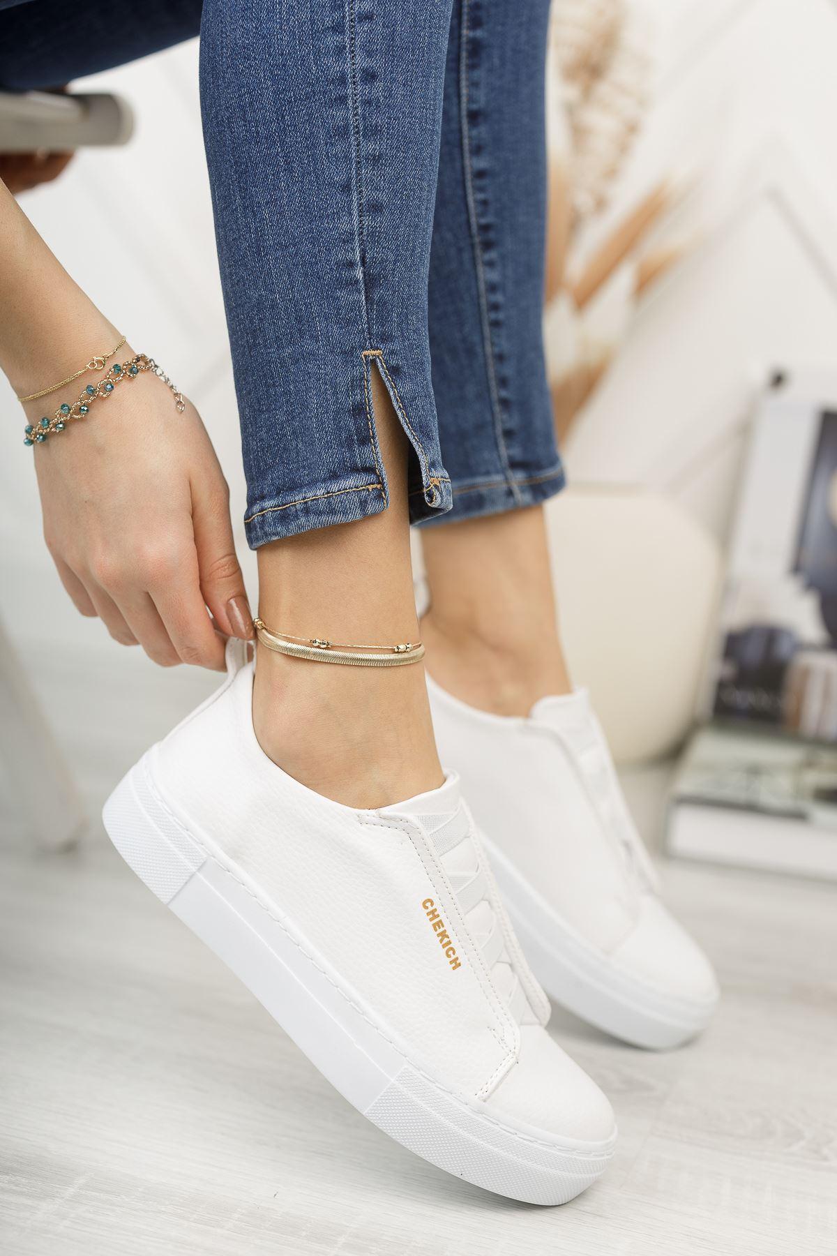Chekich CH013 BT Kadın Ayakkabı BEYAZ