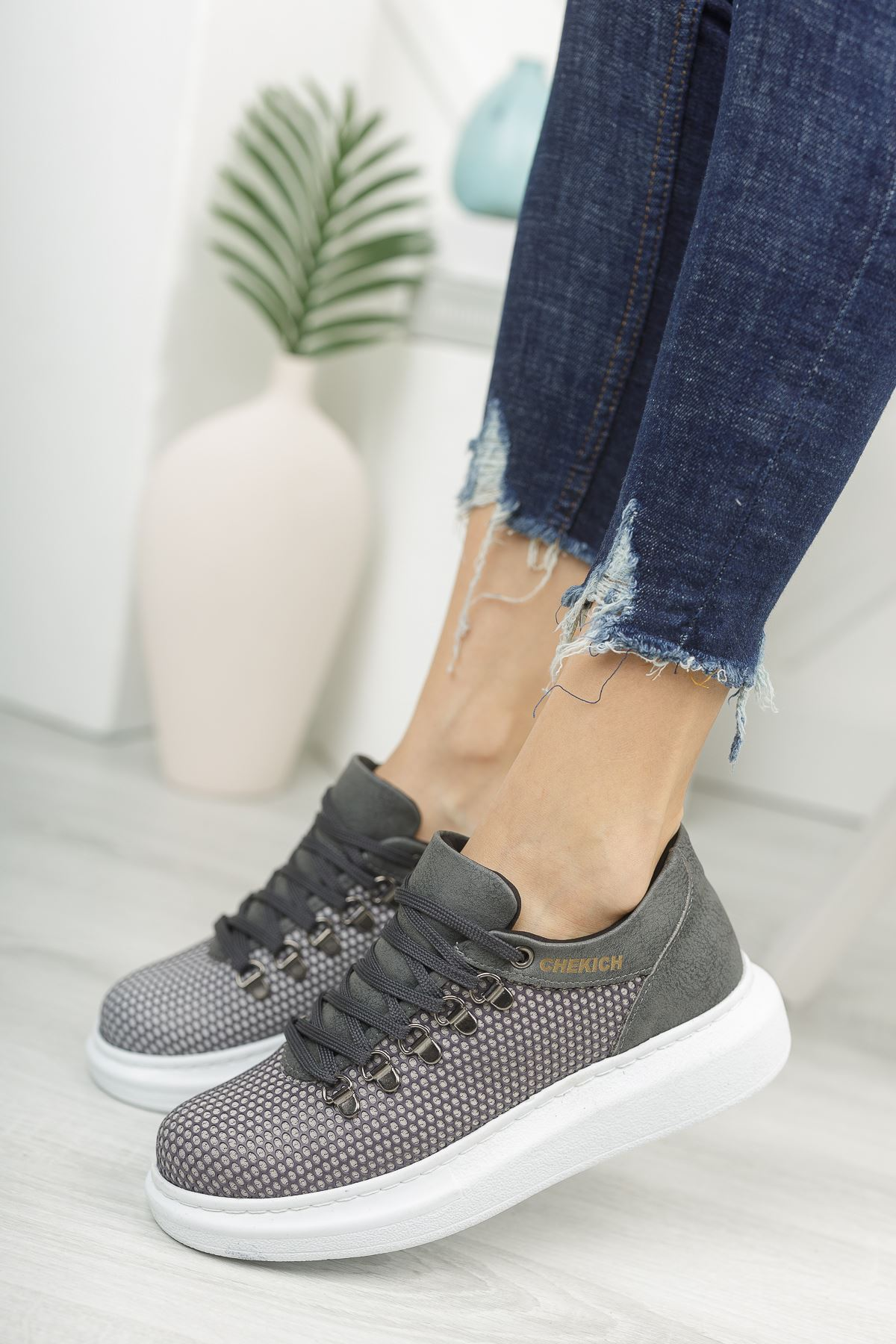 Chekich CH021 YBT Kadın Ayakkabı ANTRASIT