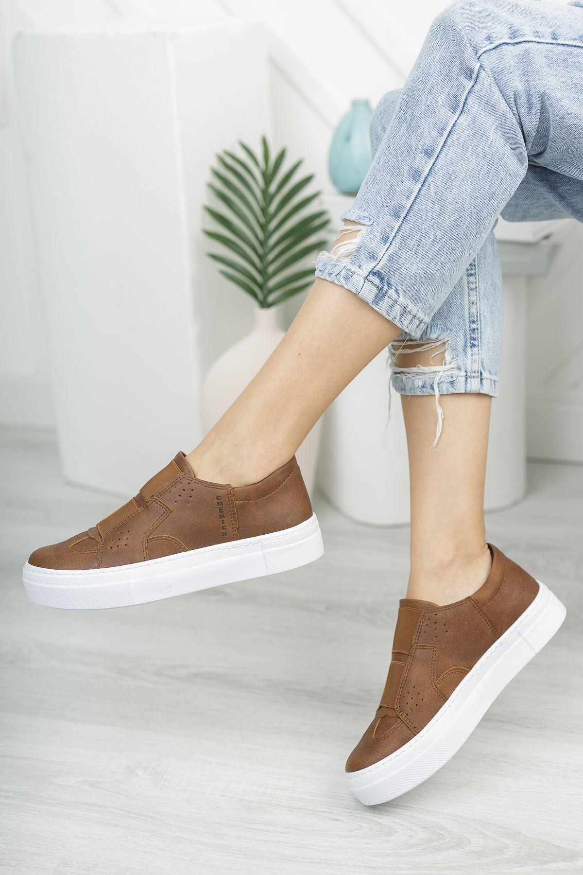 Chekich CH033 BT Kadın Ayakkabı TABA