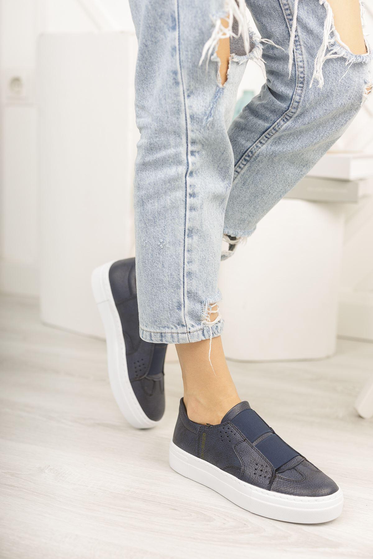 Chekich CH033 BT Kadın Ayakkabı LACIVERT