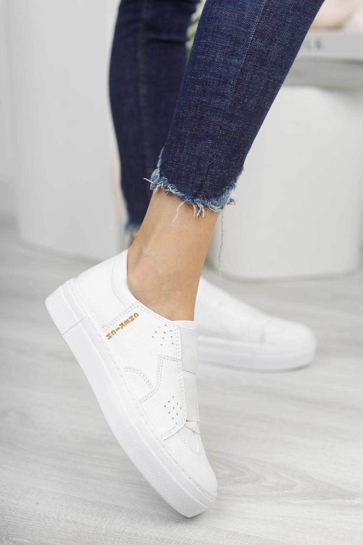 Chekich CH033 BT Kadın Ayakkabı BEYAZ