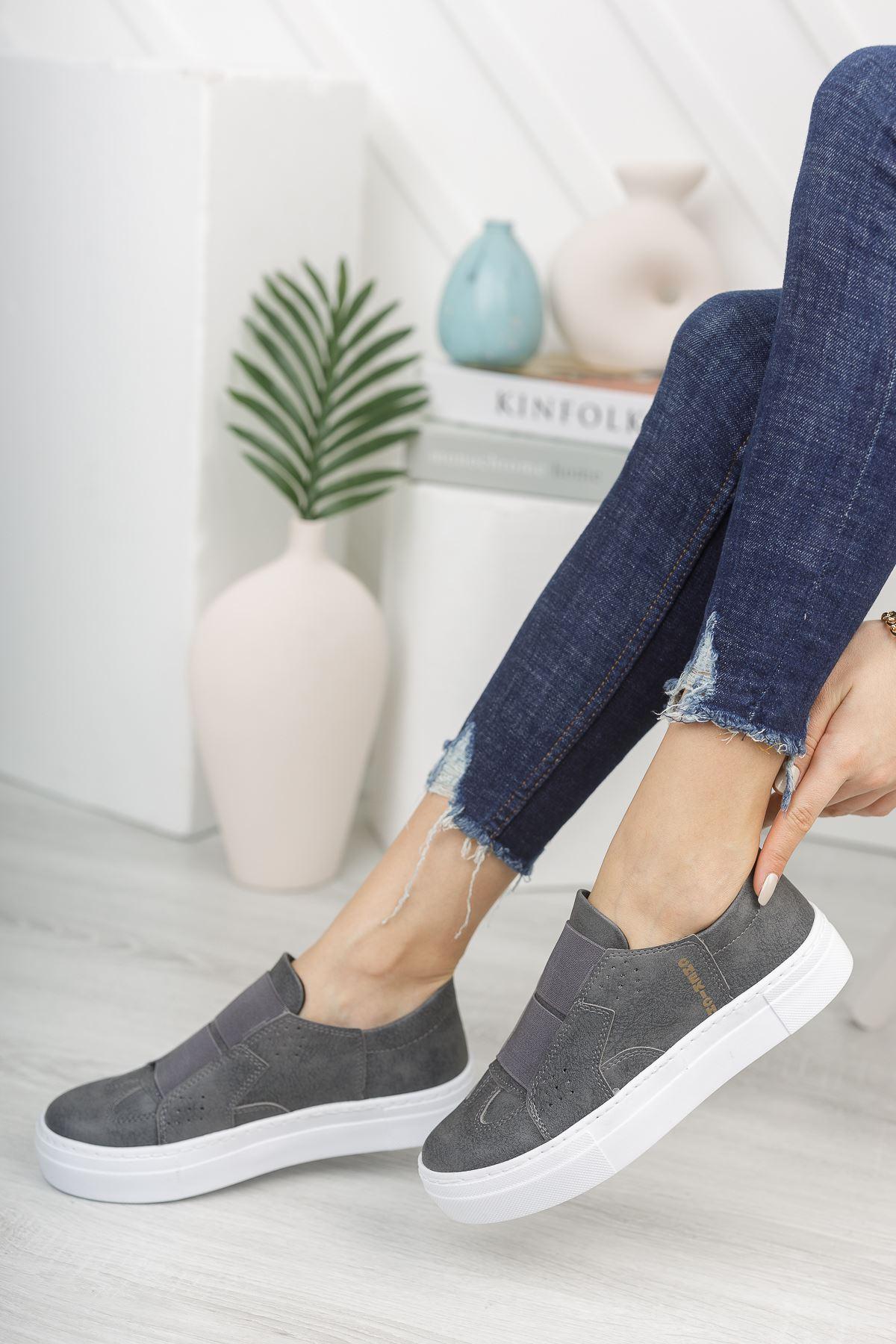Chekich CH033 BT Kadın Ayakkabı ANTRASIT