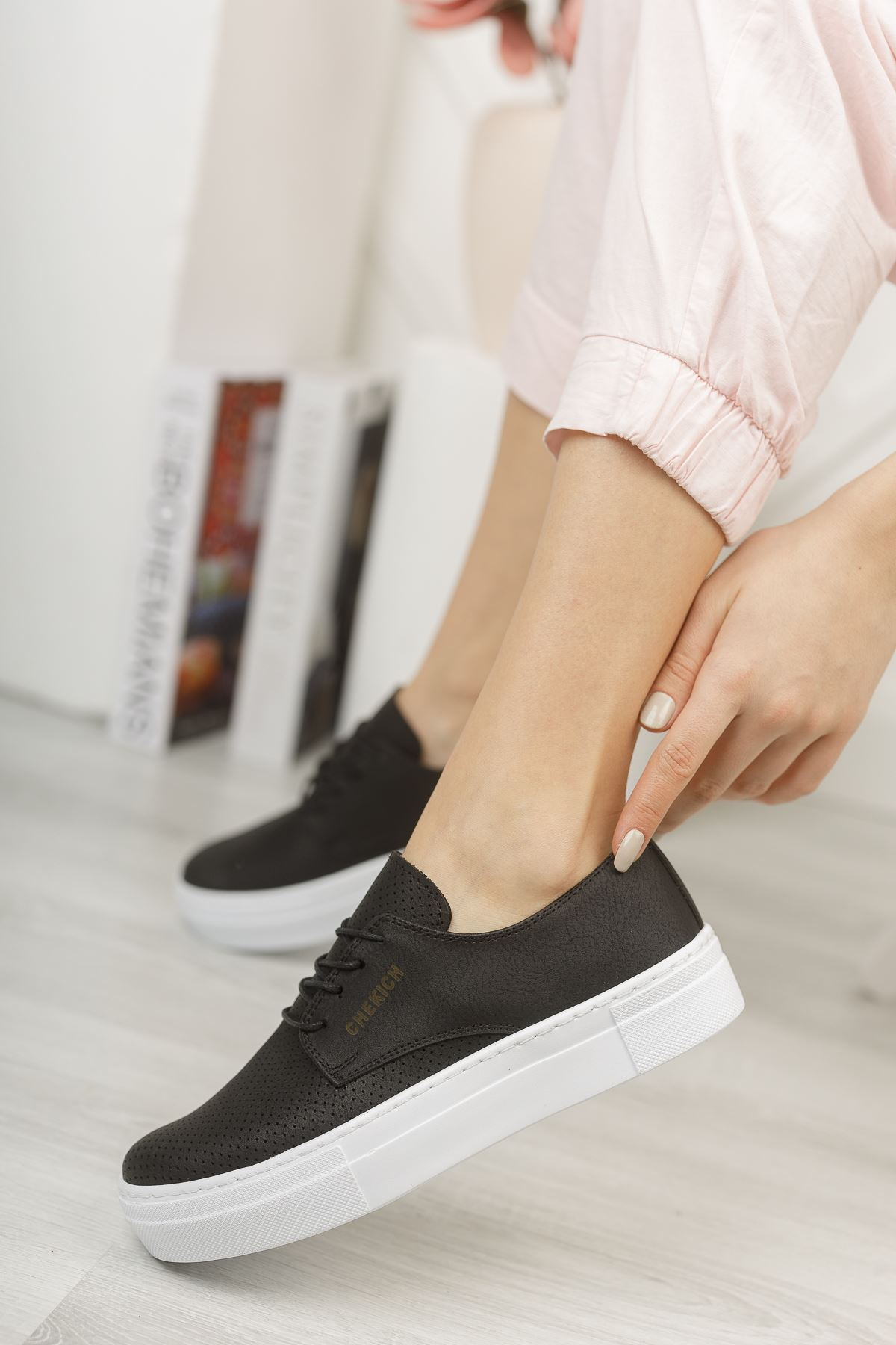 Chekich CH061 BT Kadın Ayakkabı SIYAH