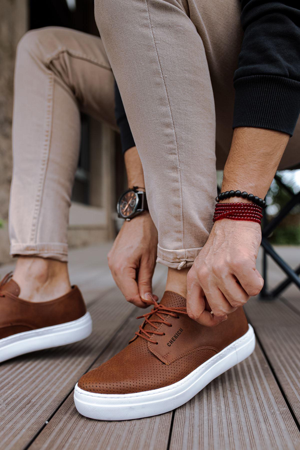 Chekich CH061 BT Erkek Ayakkabı TABA