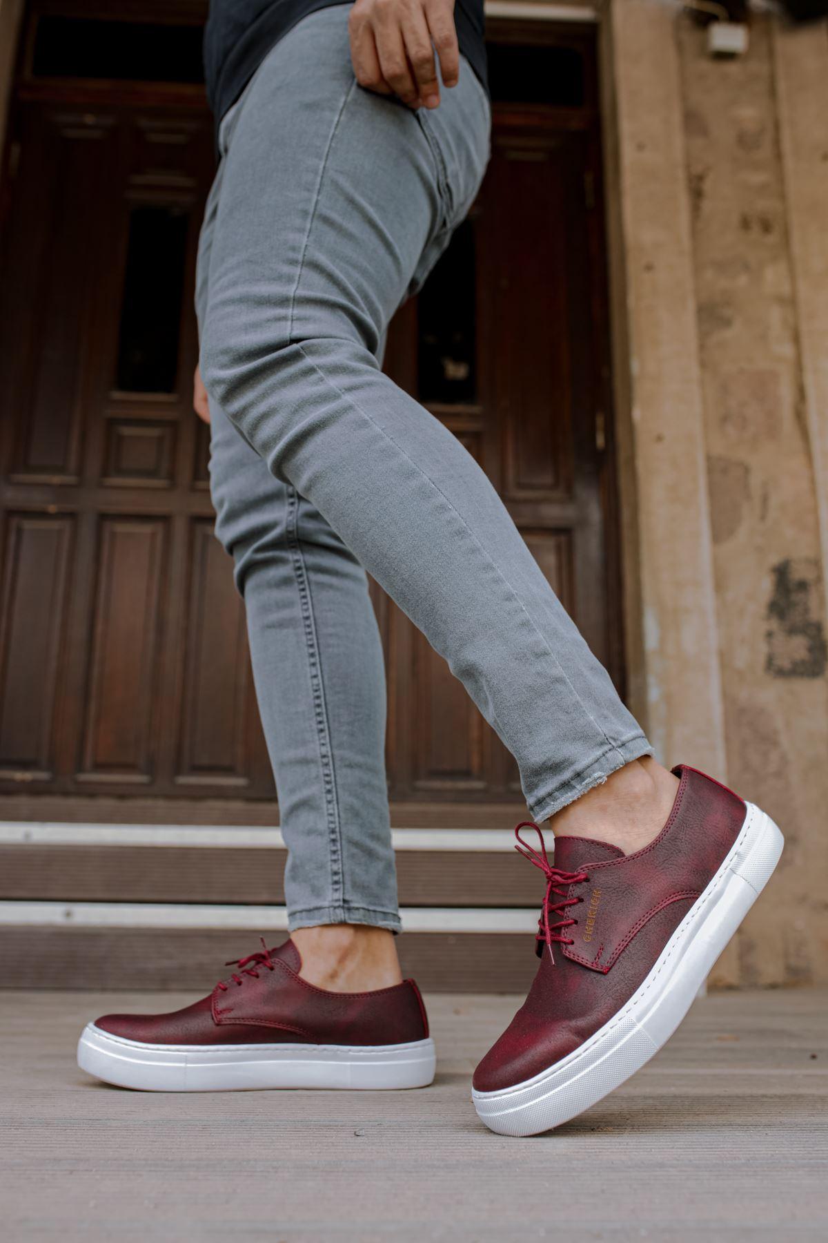 Chekich CH005 BT Erkek Ayakkabı BORDO