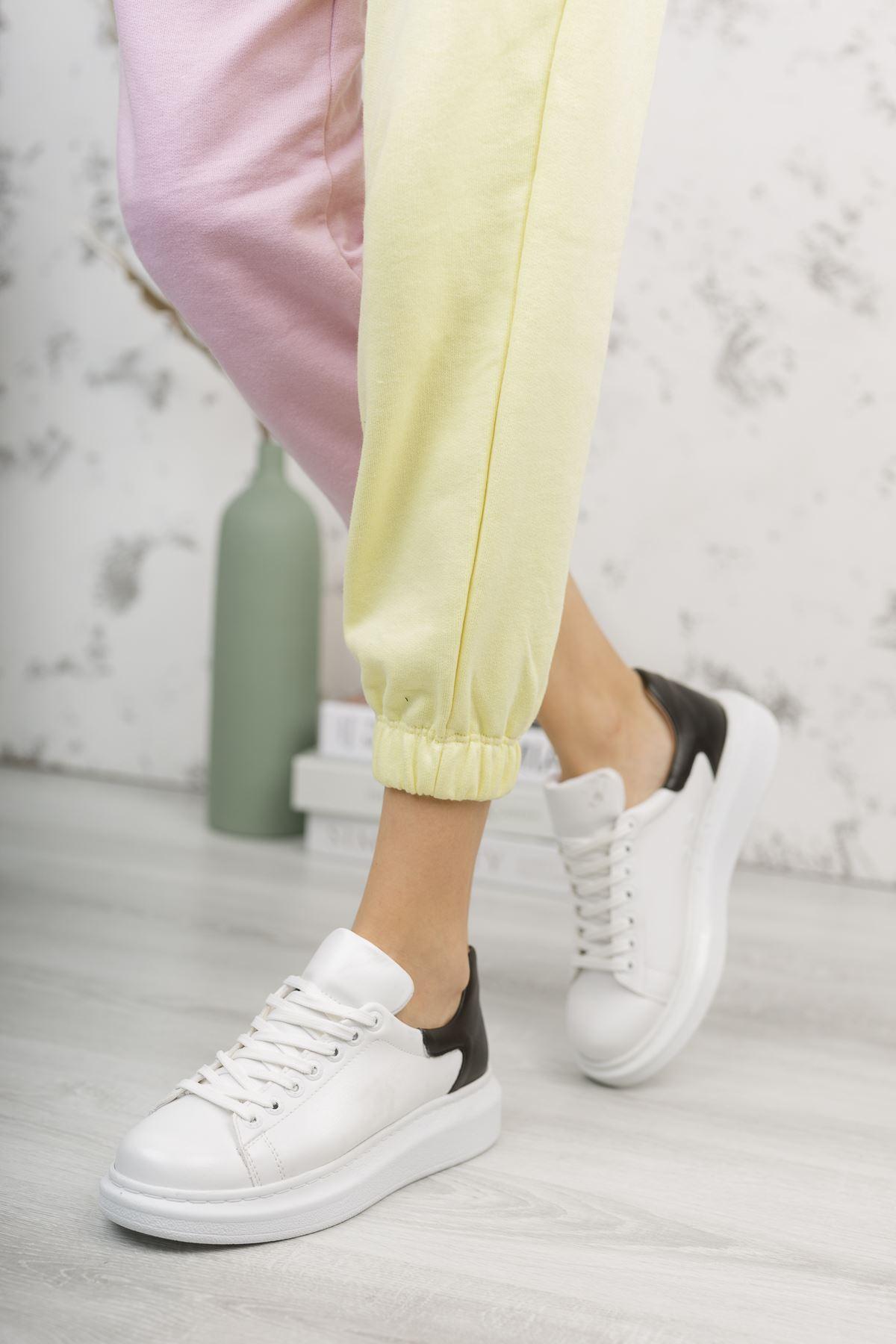 Chekich CH256 BT Kadın Ayakkabı BEYAZ/SİYAH