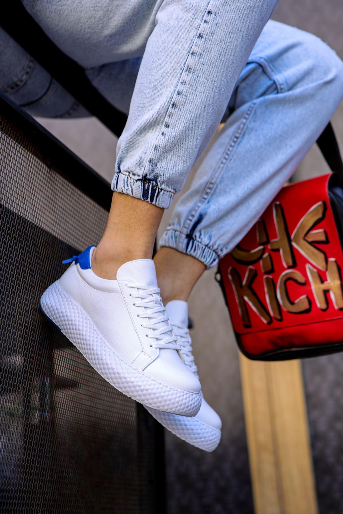 Chekich CH107 GBT Erkek Ayakkabı BEYAZ / SAX MAVİ