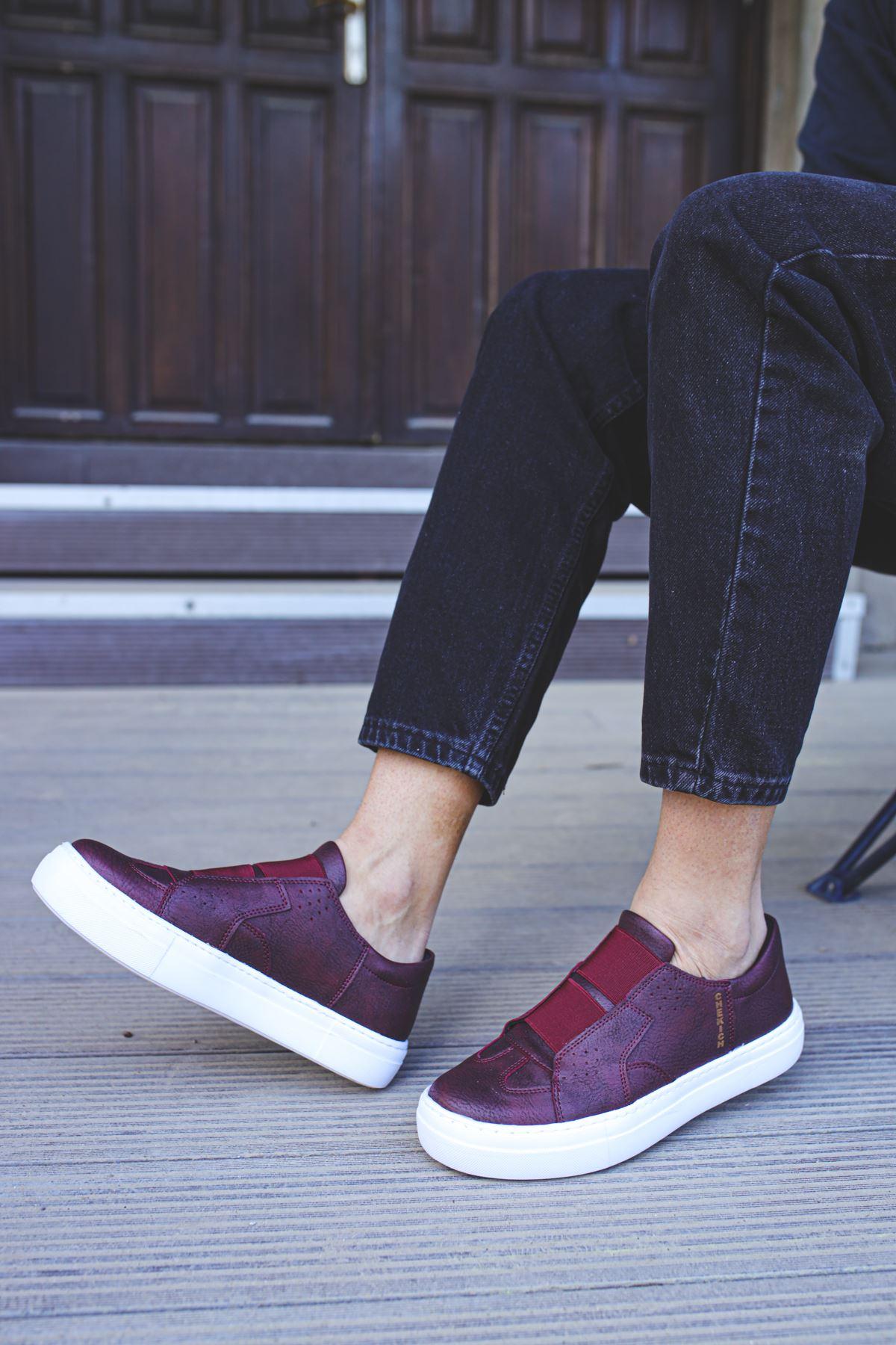 Chekich CH033 BT Erkek Ayakkabı BORDO