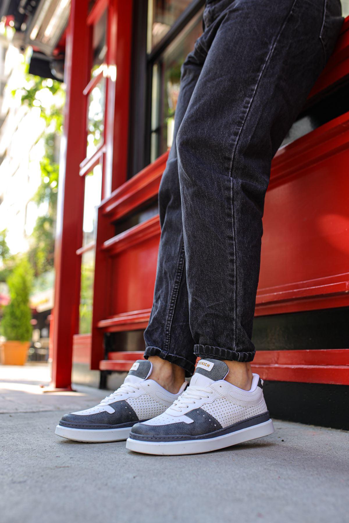 Chekich CH201 BT Erkek Ayakkabı ANTRASİT/BEYAZ