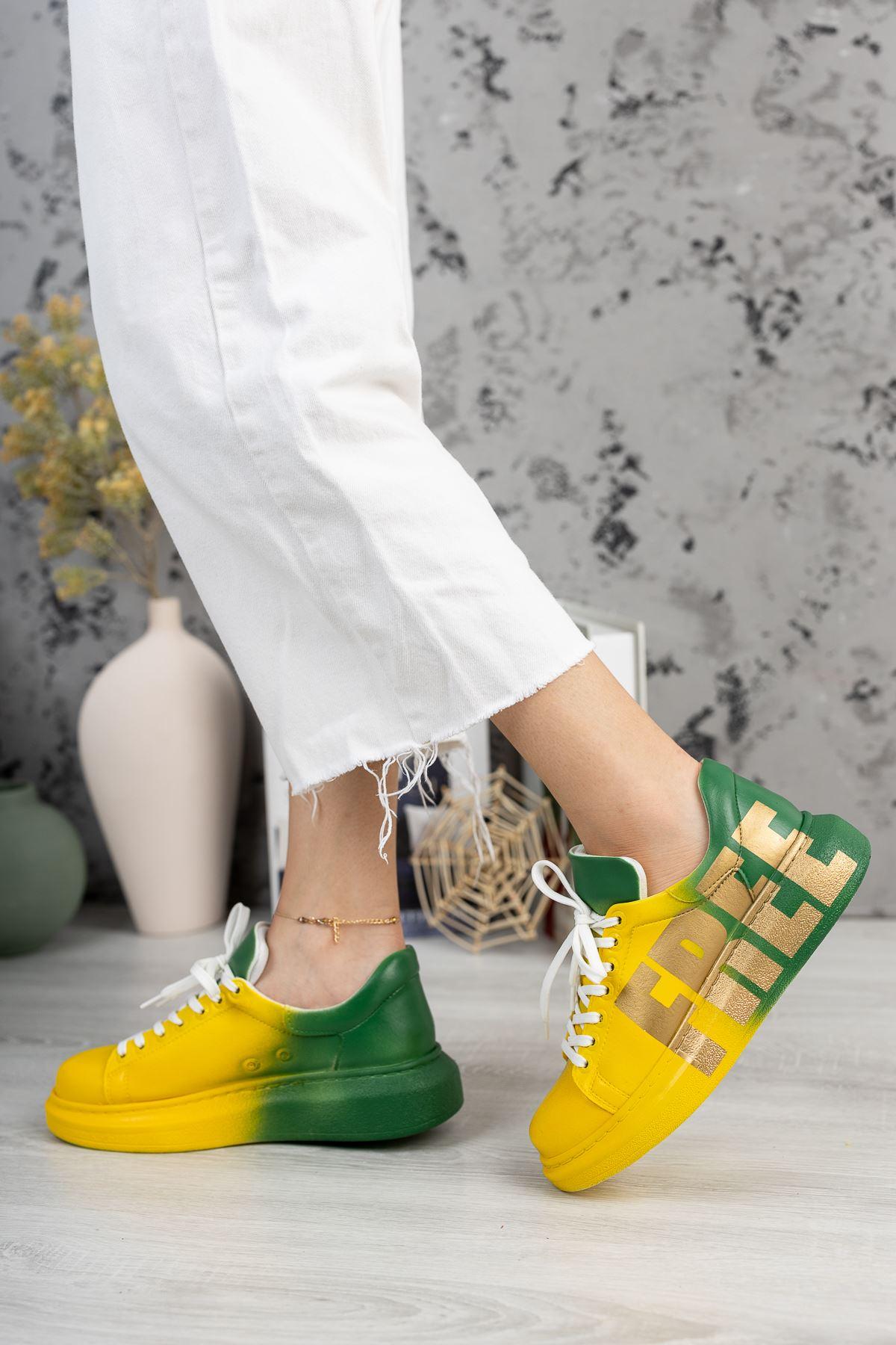 Chekich CH254 BT Kadın Ayakkabı 432 SARI / YEŞİL FREE