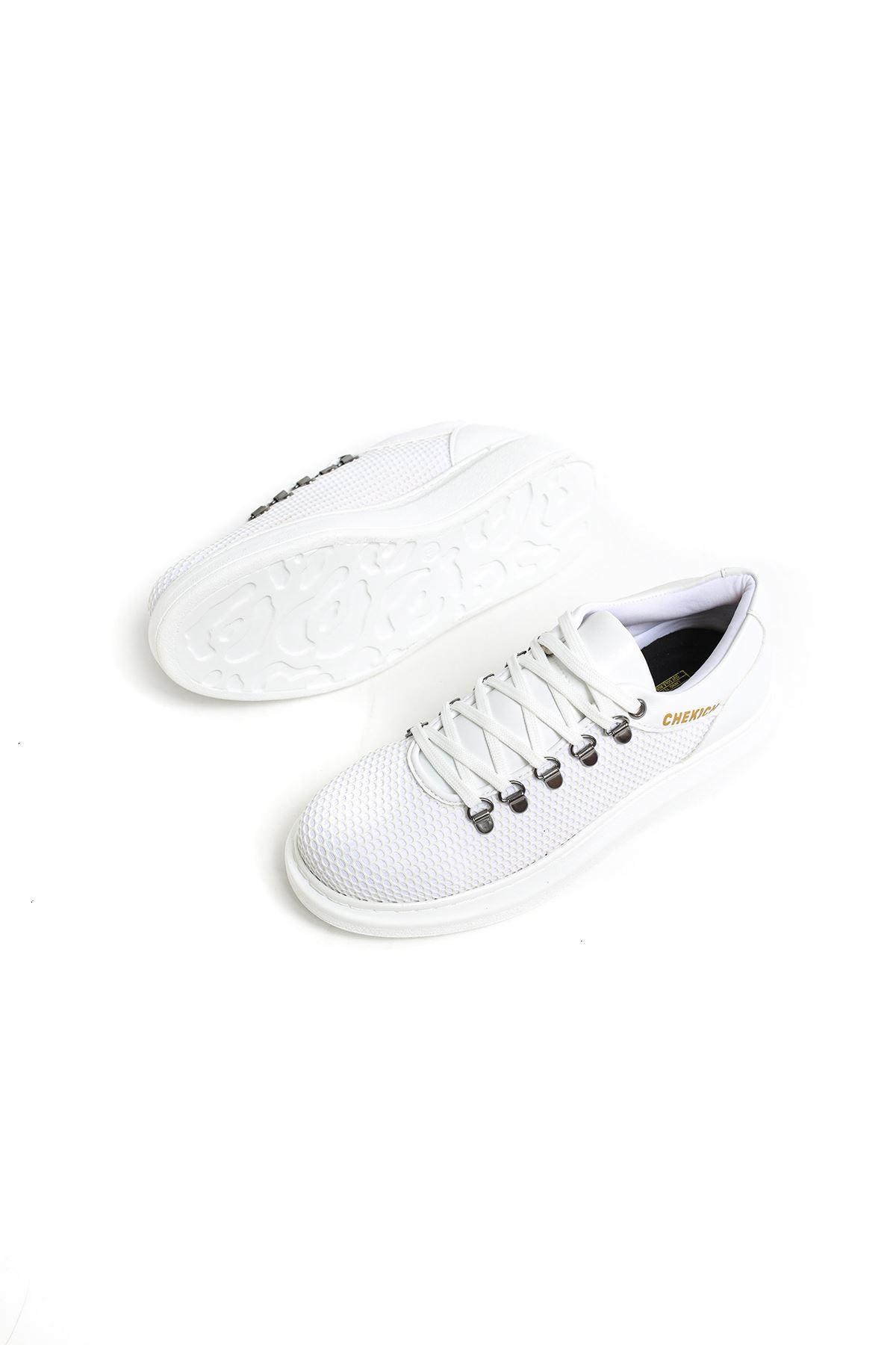 Chekich CH021 YBT Erkek Ayakkabı BEYAZ
