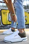 Chekich CH075 İpekyol Beyaz Taban Erkek Ayakkabı BEYAZ / HAKİ